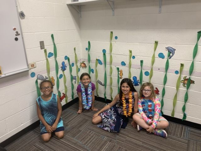 """Last week Club members at Badger Elementary dove right into summer with their """"Under the Sea"""" theme. They created their own ocean dirt cups, styrofoam bowl turtles, vanilla wafer clams, and more and also enjoyed dressing up in their under the sea/Hawaiian attire!  At Club we're always looking to find inventive ways to provide kids with opportunities to engage their creativity, create community and have fun 🙂   #GreatFuturesStartHere"""